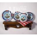 Миниатюрная тарелка для кукольного домика средневековой эпохи