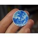 Миниатюрная тарелка, 25 мм (сине-белый пейзаж)