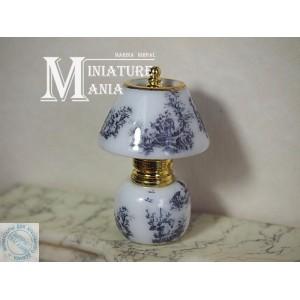 Коллекционная миниатюрная лампа, Toile de Jouy, 5 см