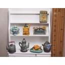 """Набор миниатюры """"Деревенская кухня"""", фарфор, Франция"""