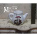 Миниатюрный чайник для кукольного домика (гриб)
