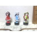 Миниатюрная фарфоровая куколка, 30 мм