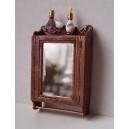 Зеркало для ванной с флаконами